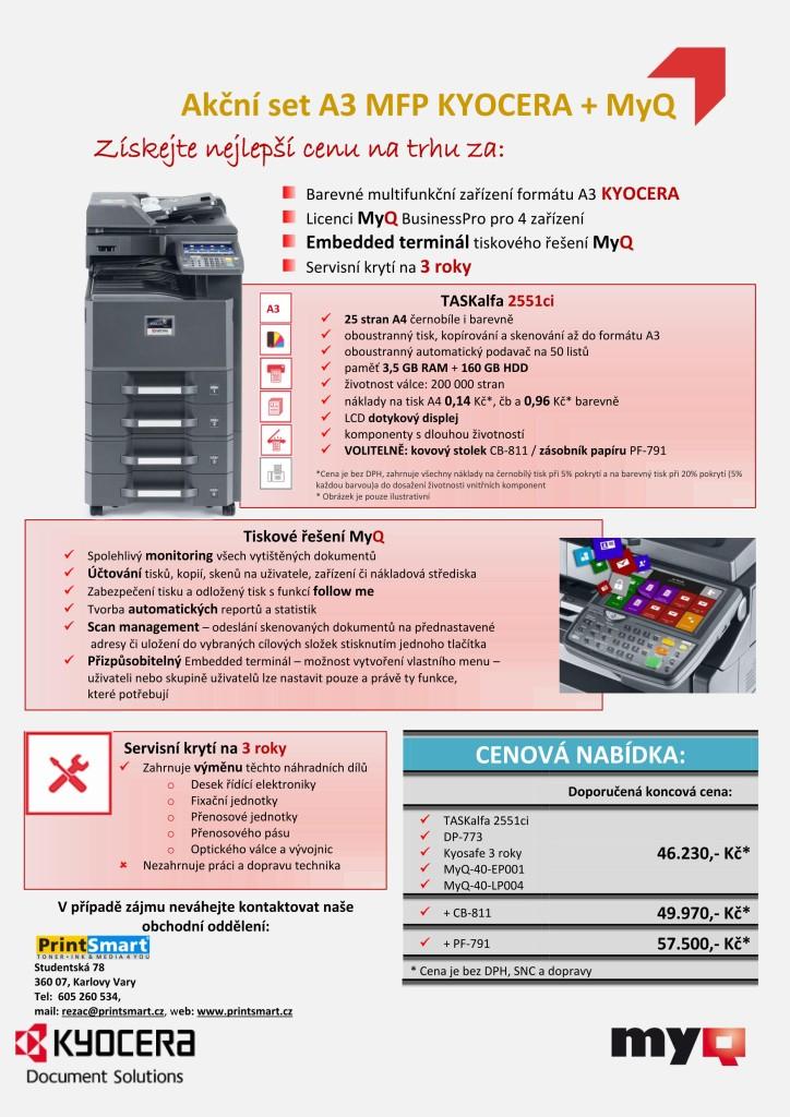 Kyocera A3 + servis + MyQ